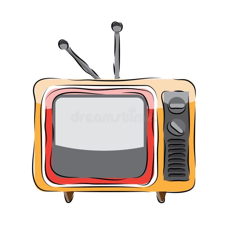Vecteur de télévision images stock