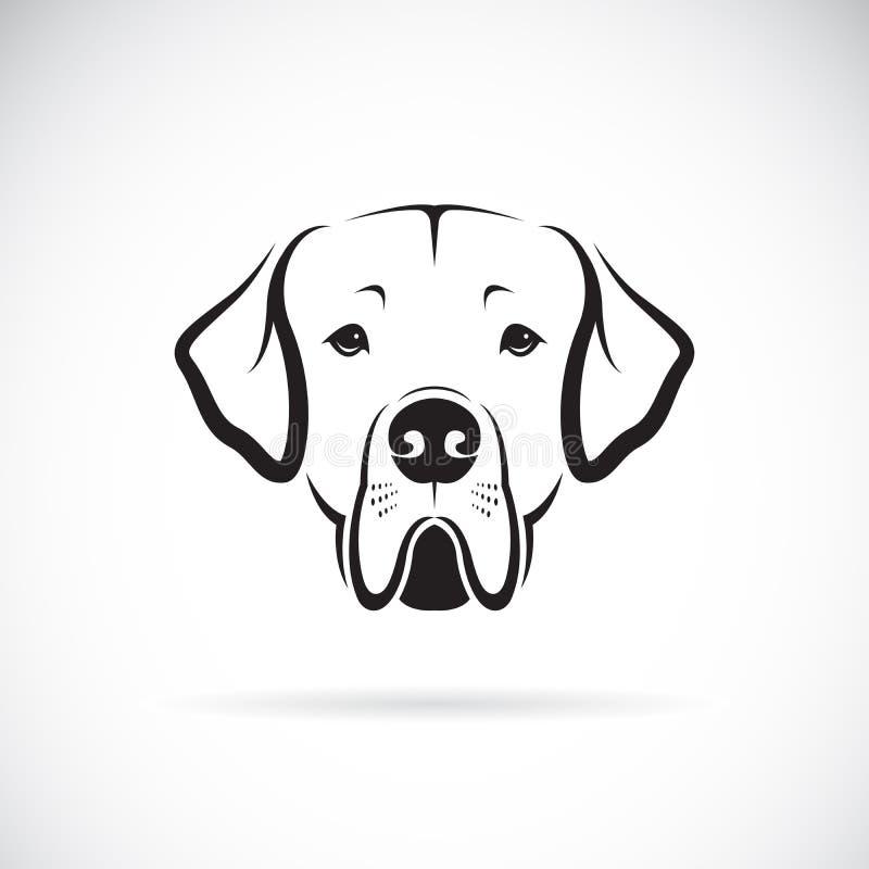 Vecteur de tête de chien de great dane sur le fond blanc pet animaux illustration stock