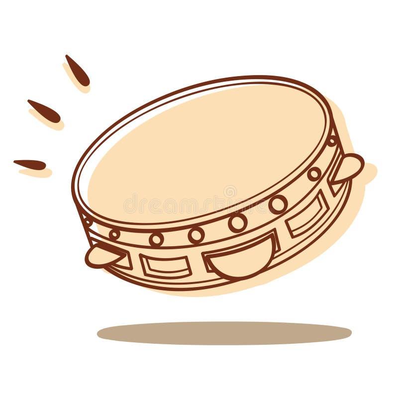 Vecteur de tambour de basque illustration libre de droits