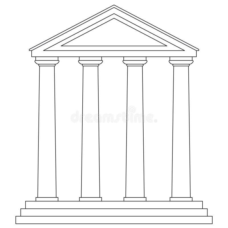 vecteur de temple illustration de vecteur