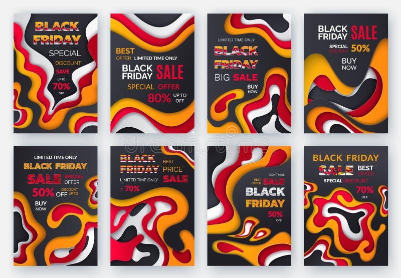 Vecteur de temps limité d'offre spéciale de Black Friday illustration de vecteur