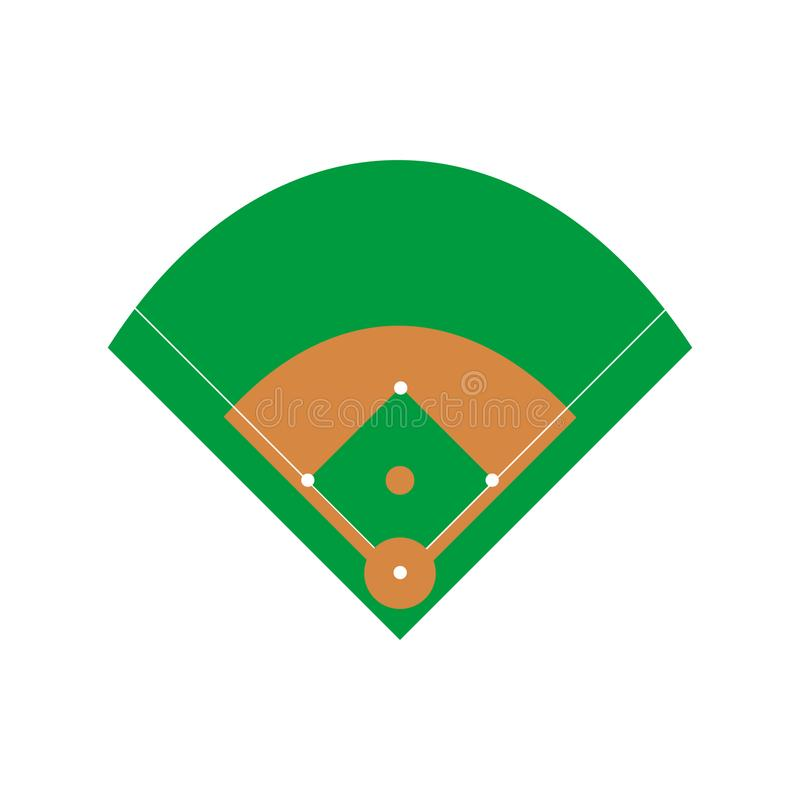 Vecteur de terrain de base-ball illustration stock