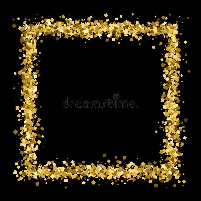 Vecteur de texture de scintillement d'or illustration stock