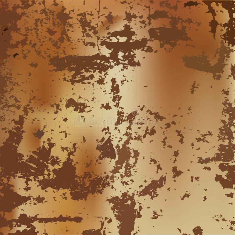 Vecteur de texture souillé par rouille simple en métal images stock
