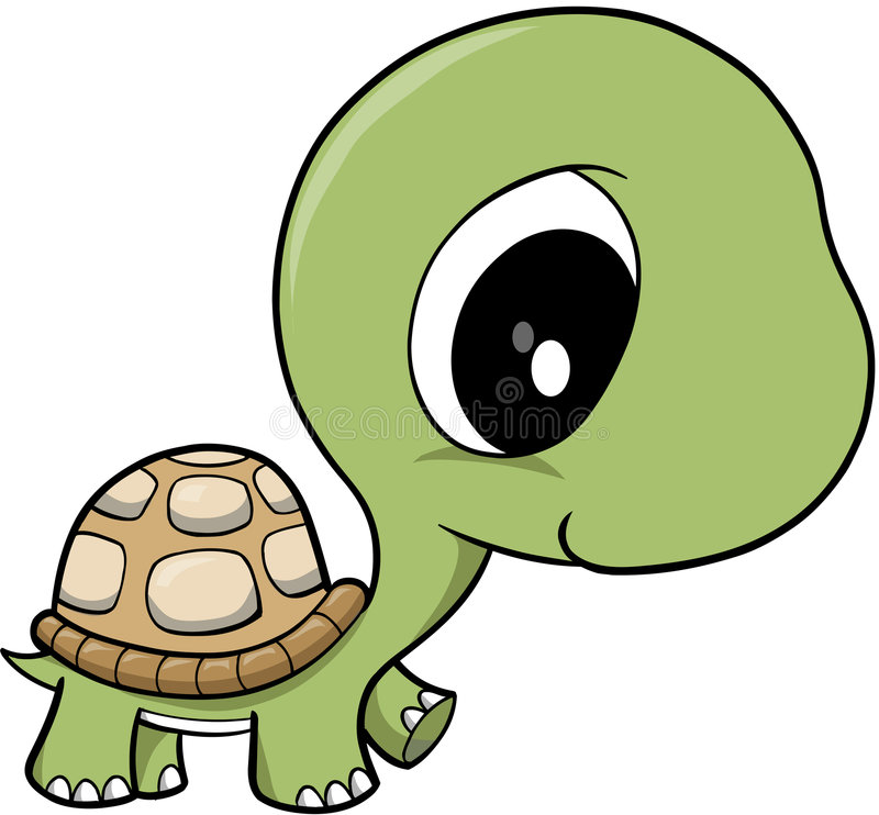 Vecteur de tortue de chéri   illustration stock