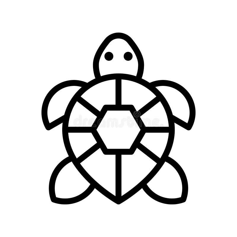 Vecteur de tortue, ligne relative tropicale icône de style illustration de vecteur