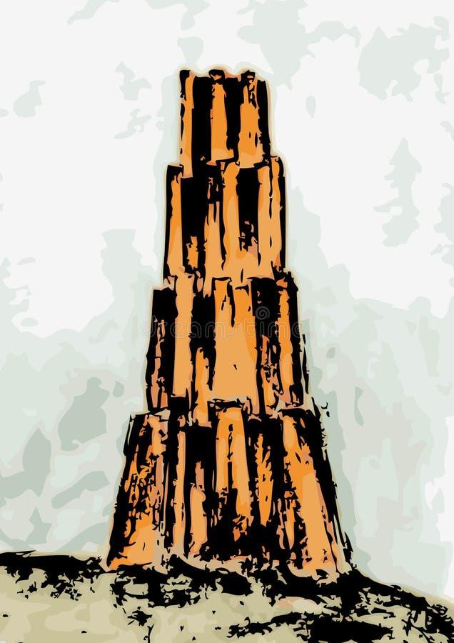 vecteur de tour de Babel illustration stock