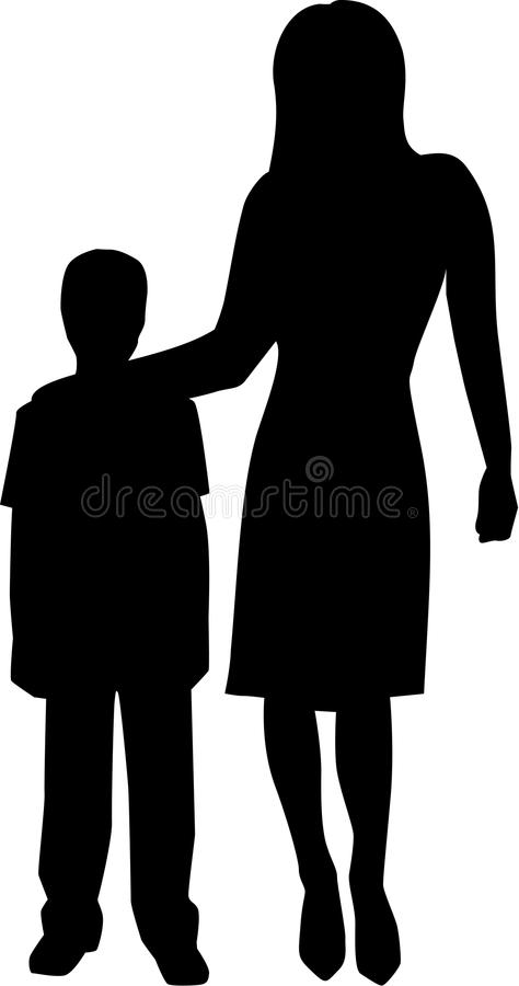 Vecteur de travailleur de Childcare illustration de vecteur