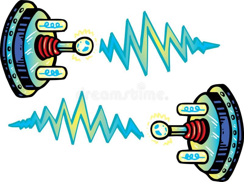 vecteur de type d'illustration d'électrode de dessin animé illustration de vecteur