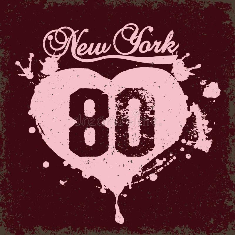Vecteur de typographie de New York City illustration de vecteur