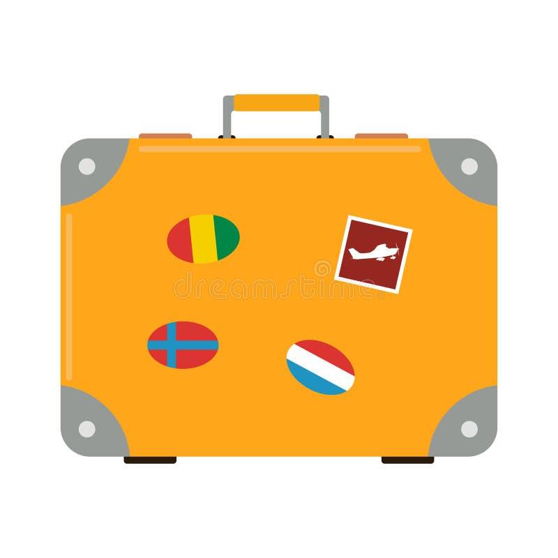 Vecteur de valise de voyage illustration de vecteur