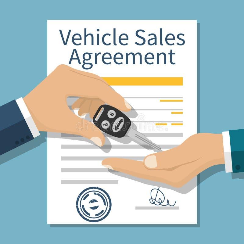 Vecteur de vente de voiture illustration libre de droits