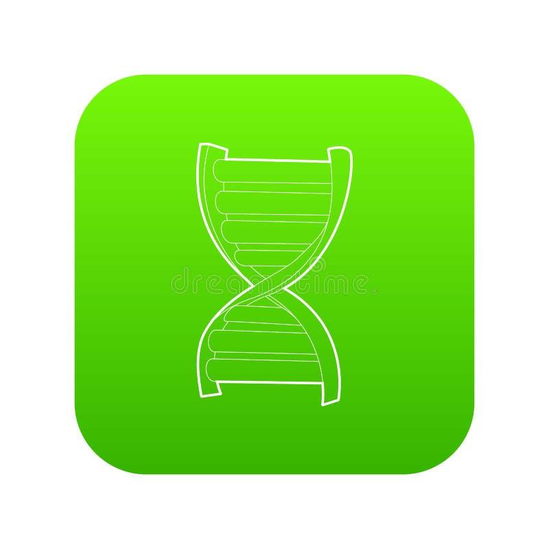 Vecteur de vert d'icône de brin d'ADN illustration de vecteur