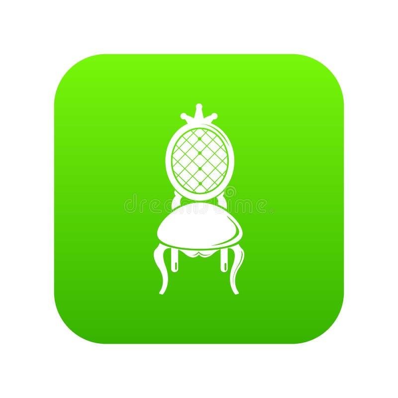 Vecteur de vert d'icône de trône illustration stock
