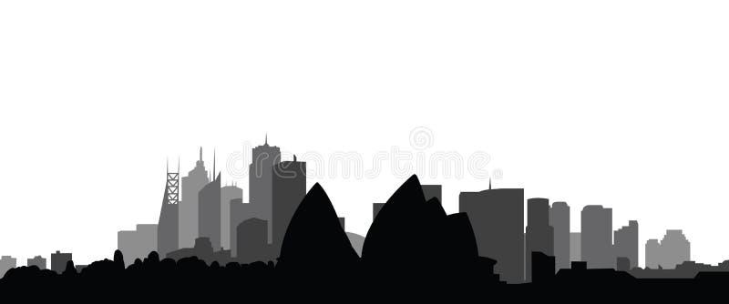 Vecteur de ville de Sydney d'horizon illustration stock