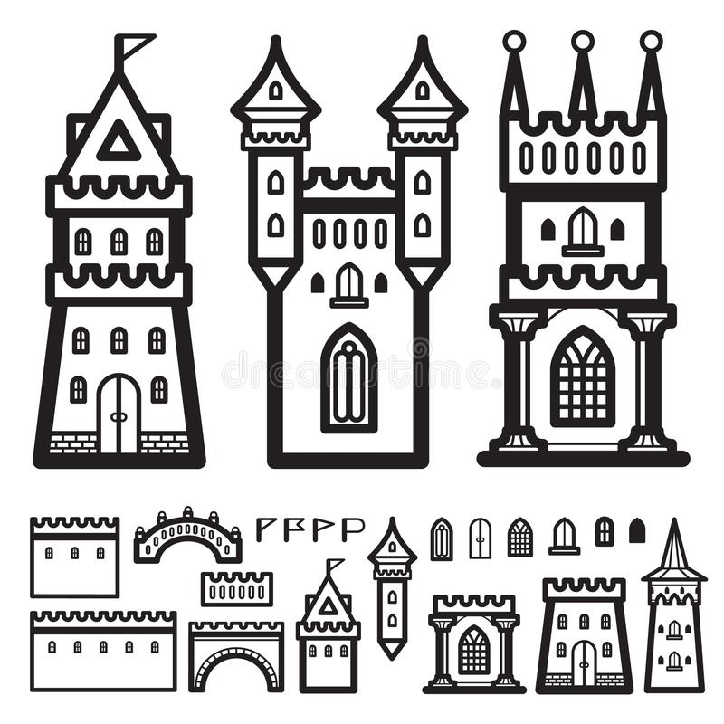 Vecteur de vintage de château illustration de vecteur
