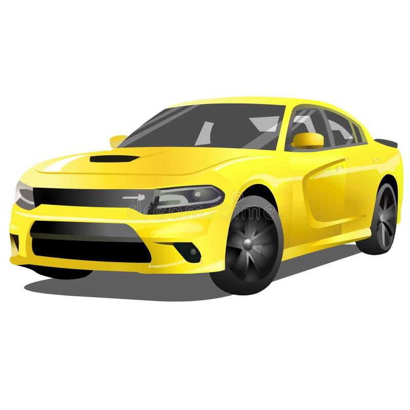 Vecteur de voiture de muscle illustration stock