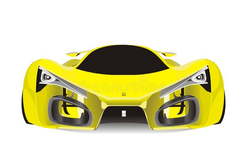Vecteur de voiture de sport jaune de Ferrari f80 illustration de vecteur