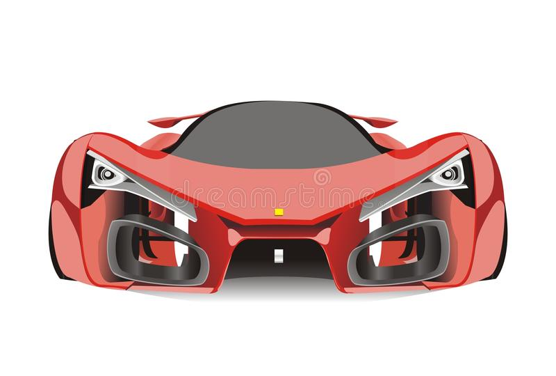 Vecteur de voiture de sport rouge de Ferrari f80 illustration libre de droits