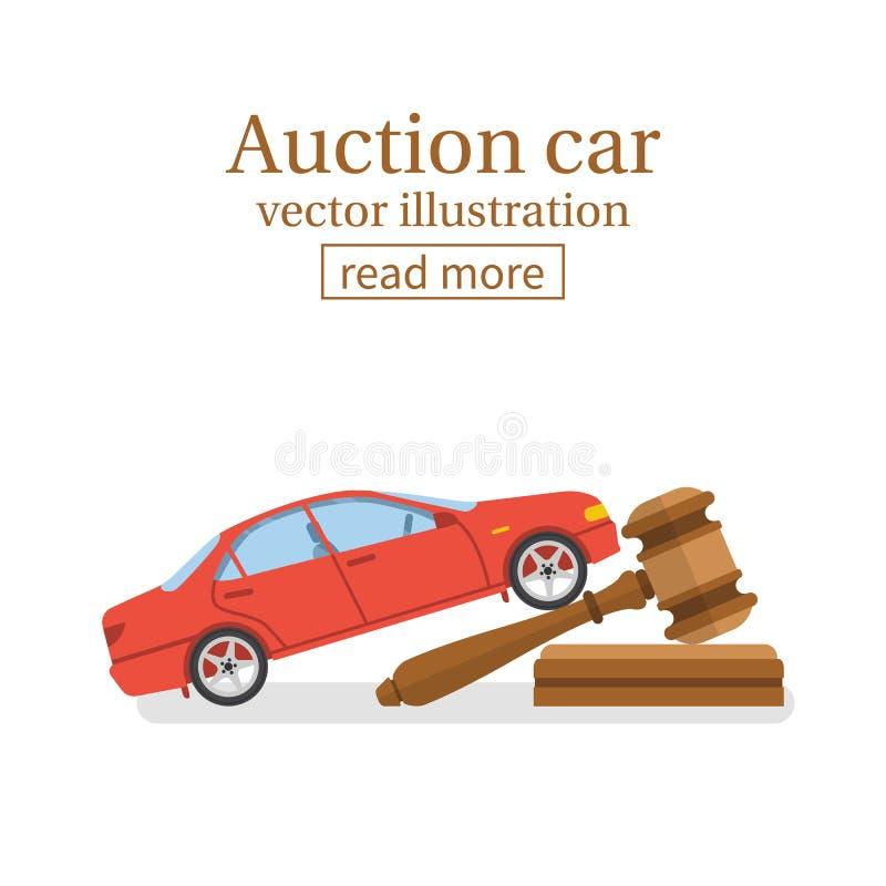 Vecteur de voiture de vente aux enchères illustration stock