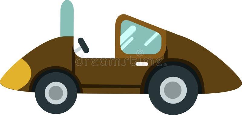 Vecteur de voiture de scarabée le Blackground blanc illustration stock