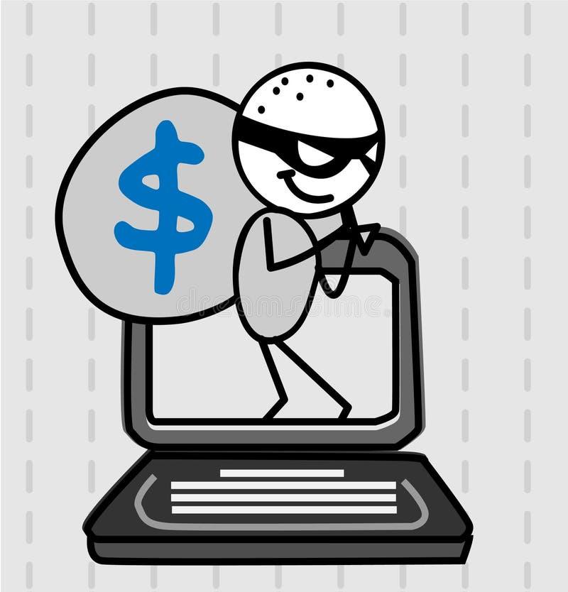Vecteur de voleur d'intrus illustration libre de droits