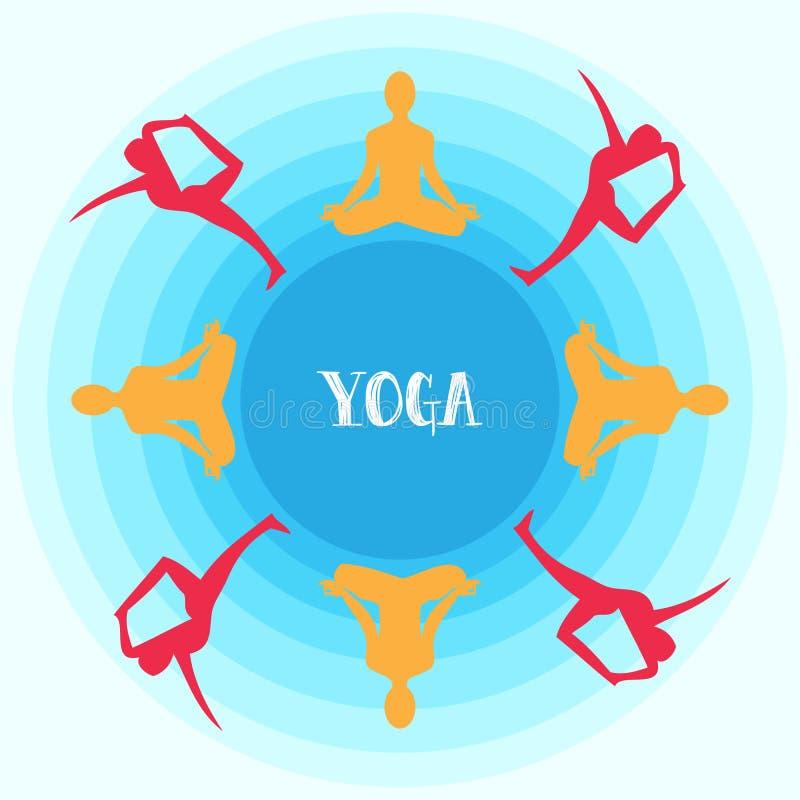 Vecteur de yoga illustration de vecteur