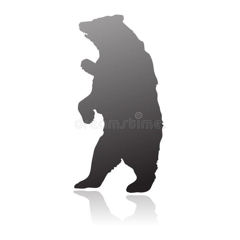 vecteur debout de silhouette d'ours illustration libre de droits