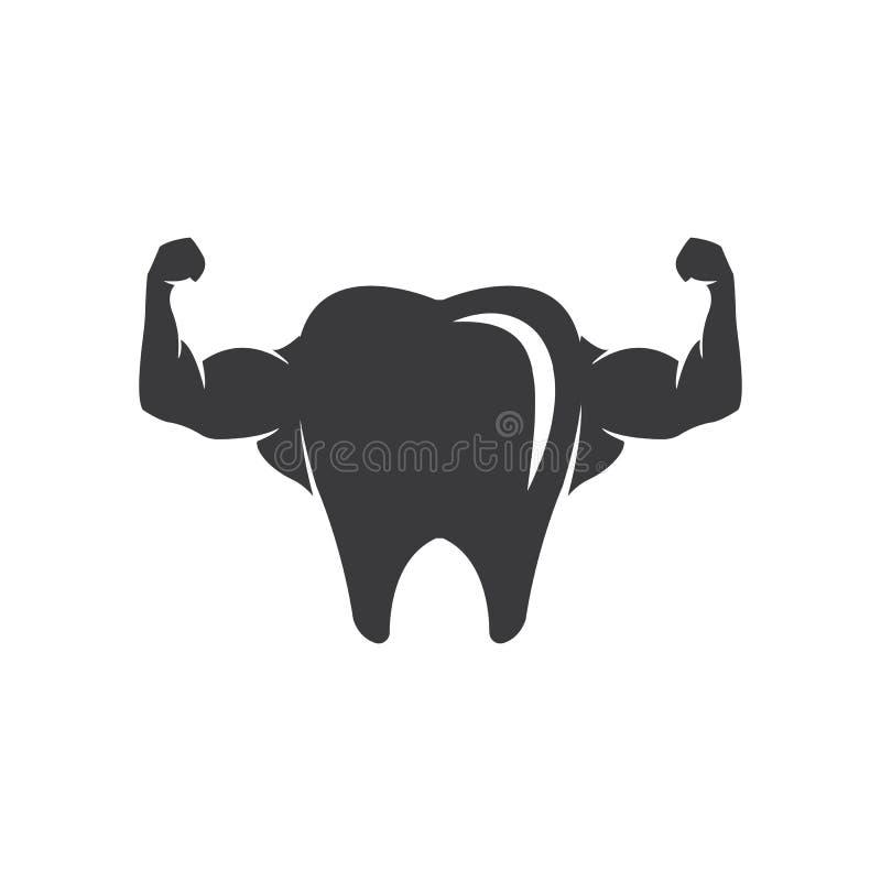 Vecteur dentaire de calibre de logo illustration de vecteur