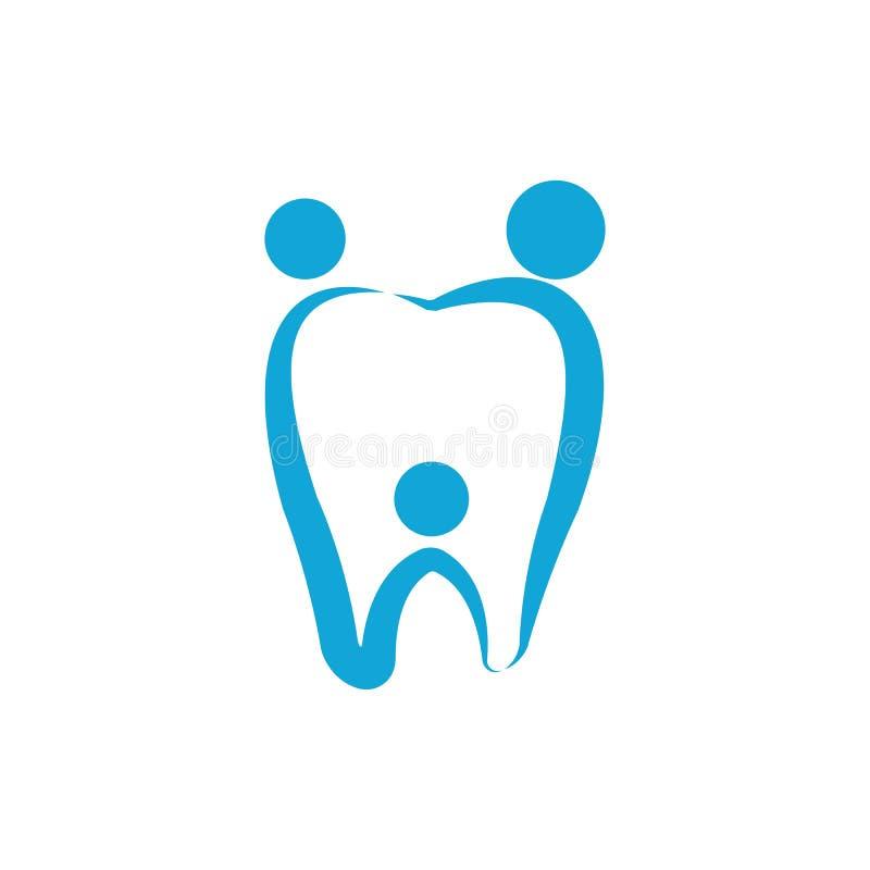 Vecteur dentaire de calibre de logo illustration libre de droits