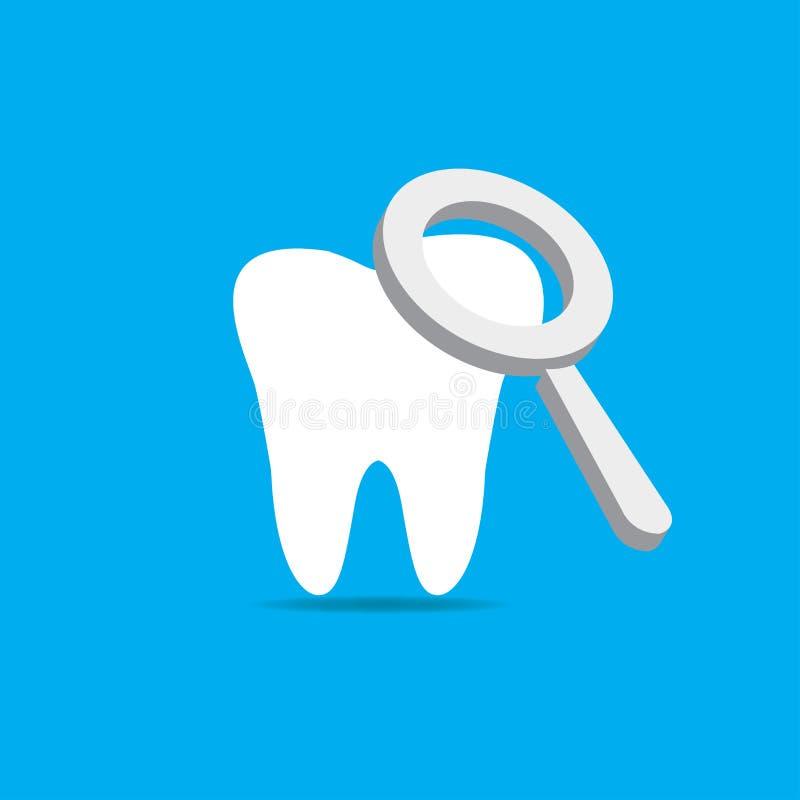 Vecteur dentaire de traitement illustration stock