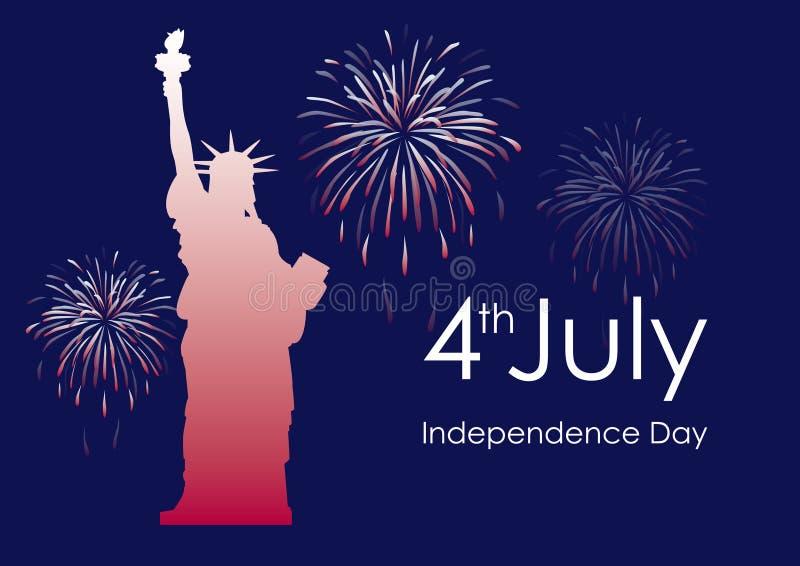 Vecteur des Etats-Unis de Jour de la Déclaration d'Indépendance illustration stock
