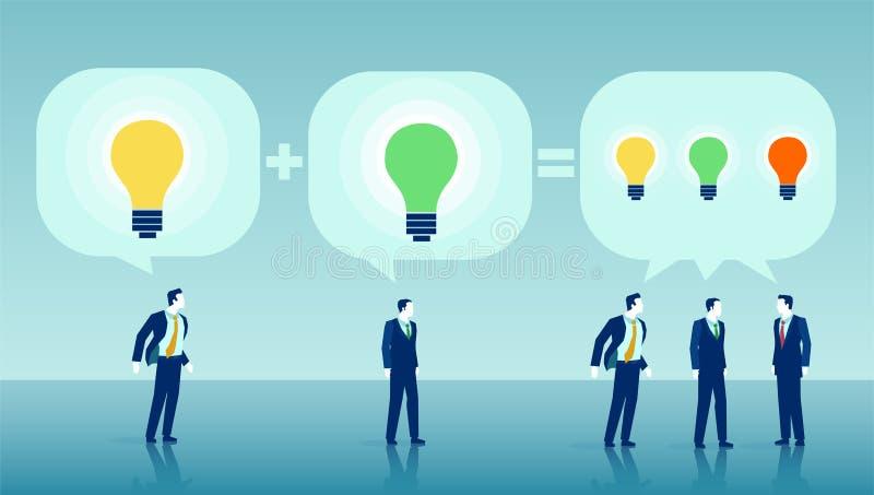 Vecteur des hommes d'affaires faisant un brainstorm des idées illustration de vecteur