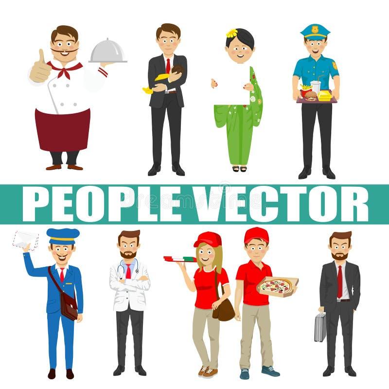 Vecteur des jeunes avec de divers caractères illustration libre de droits