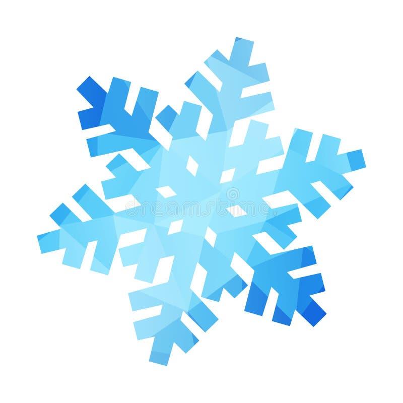 Vecteur desing le flocon de neige d'isolement illustration stock