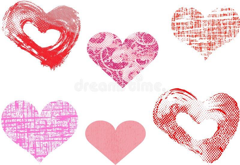 Vecteur différent de coeurs de valentine illustration stock
