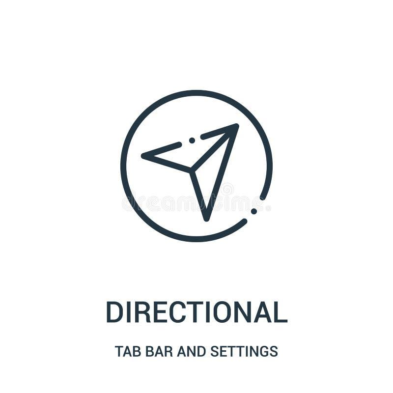 vecteur directionnel d'icône de barre d'étiquette et de collection d'arrangements Ligne mince illustration directionnelle de vect illustration de vecteur
