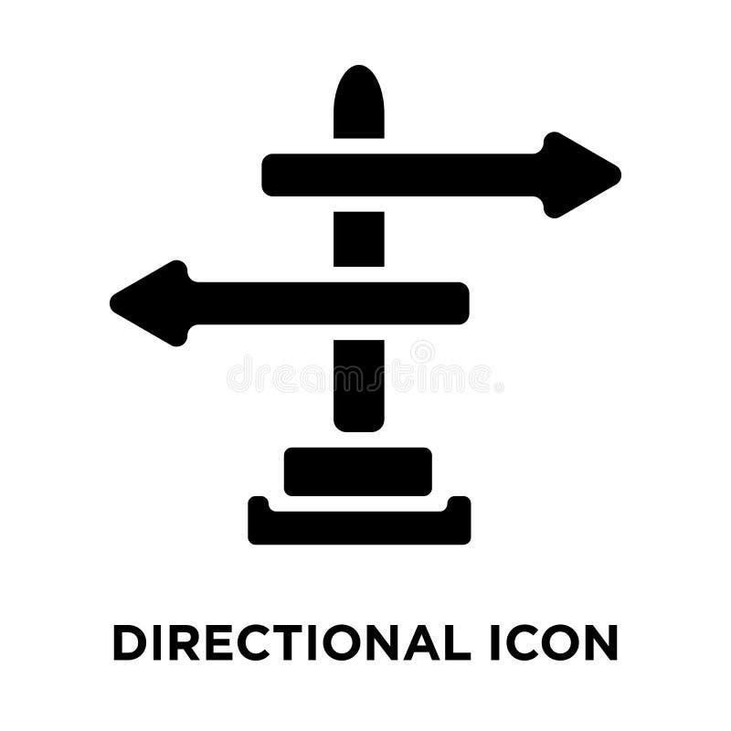 Vecteur directionnel d'icône de signe d'isolement sur le fond blanc, logo illustration libre de droits