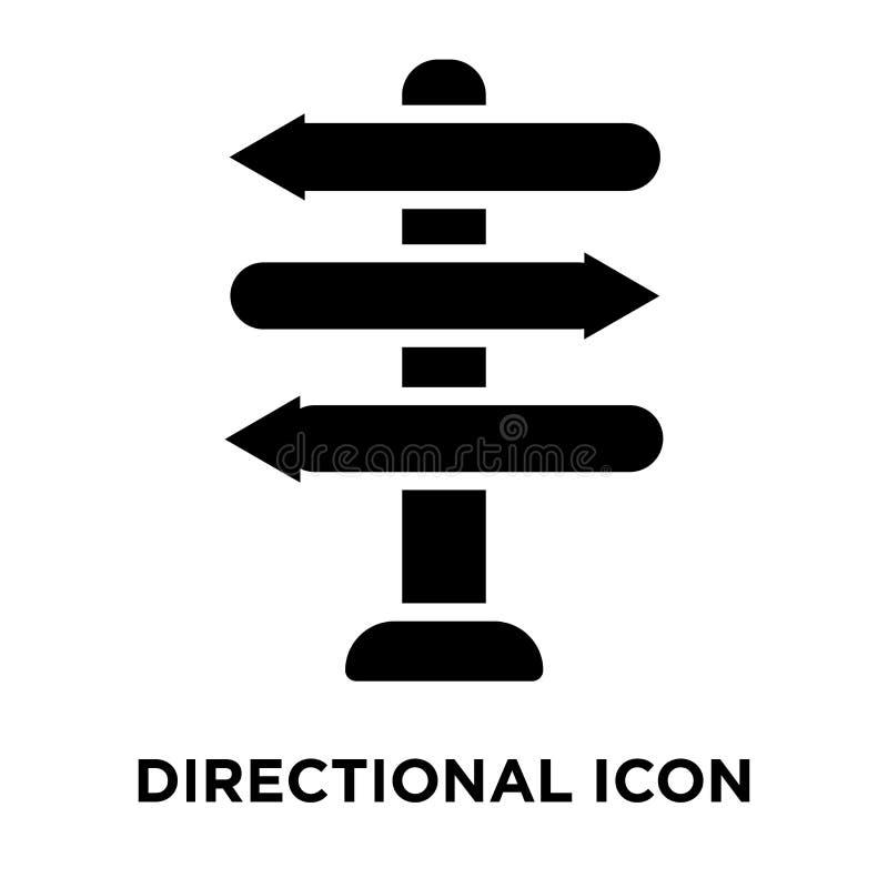 Vecteur directionnel d'icône de signe d'isolement sur le fond blanc, logo illustration stock