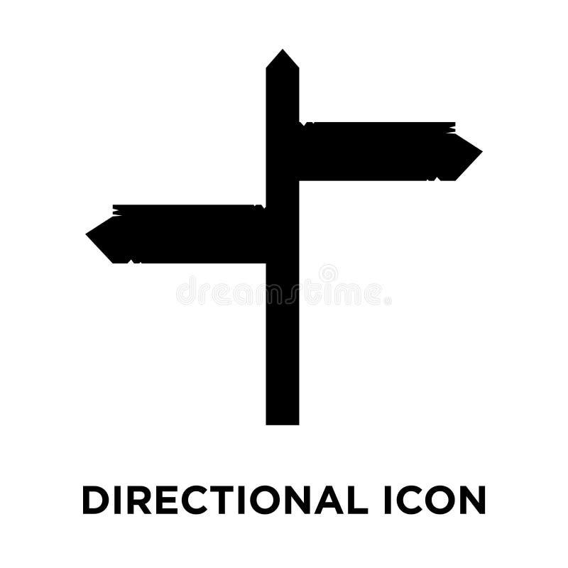 Vecteur directionnel d'icône de signe d'isolement sur le fond blanc, logo illustration de vecteur