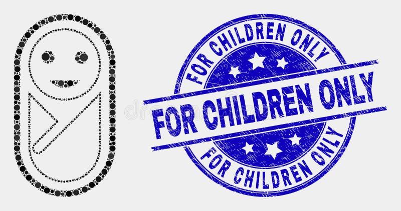 Vecteur Dot New Born Icon et rayé pour le joint d'enfants seulement illustration de vecteur