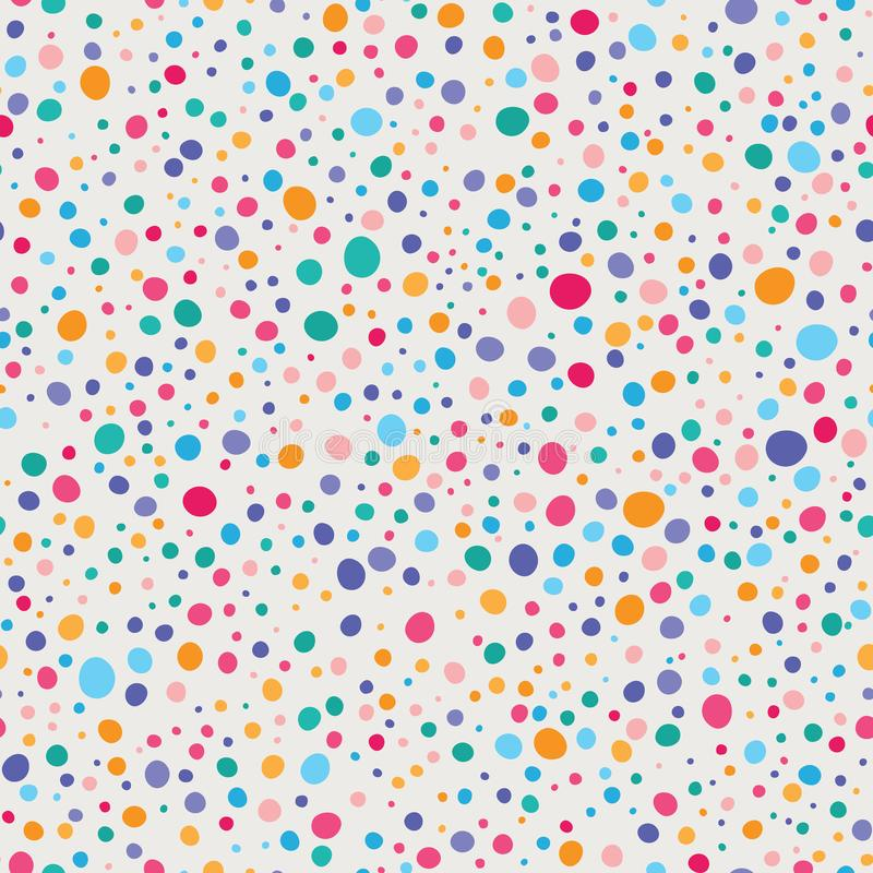 Vecteur Dots Seamless Pattern chancelant coloré illustration libre de droits