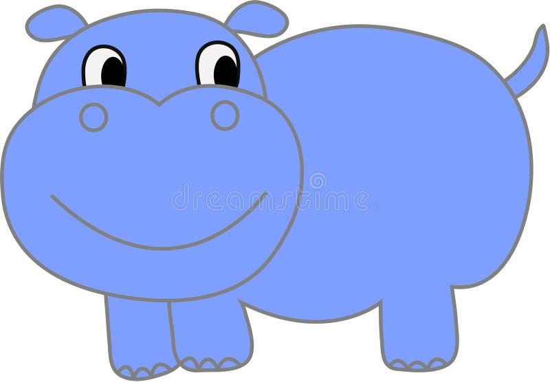 vecteur drôle d'illustration de hippopotamus illustration libre de droits