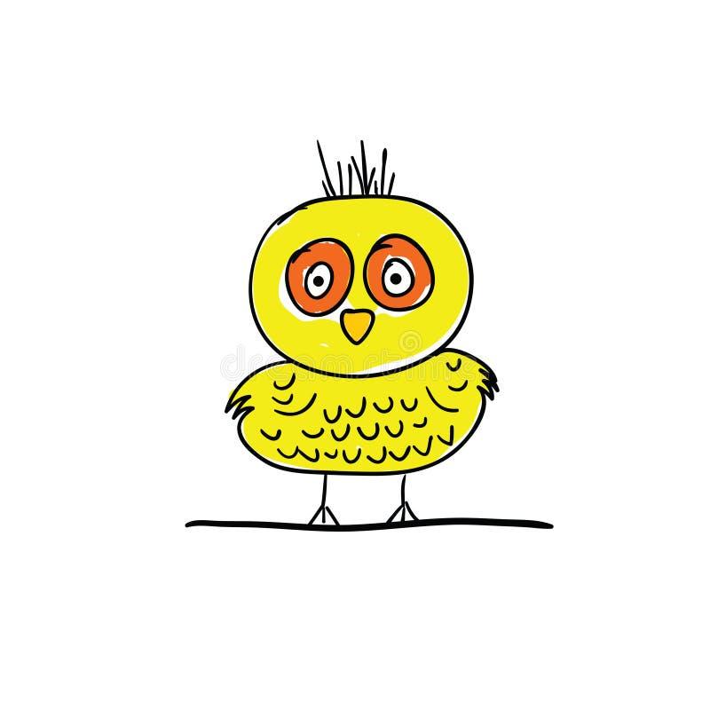 Vecteur drôle de bande dessinée d'oiseau illustration de vecteur