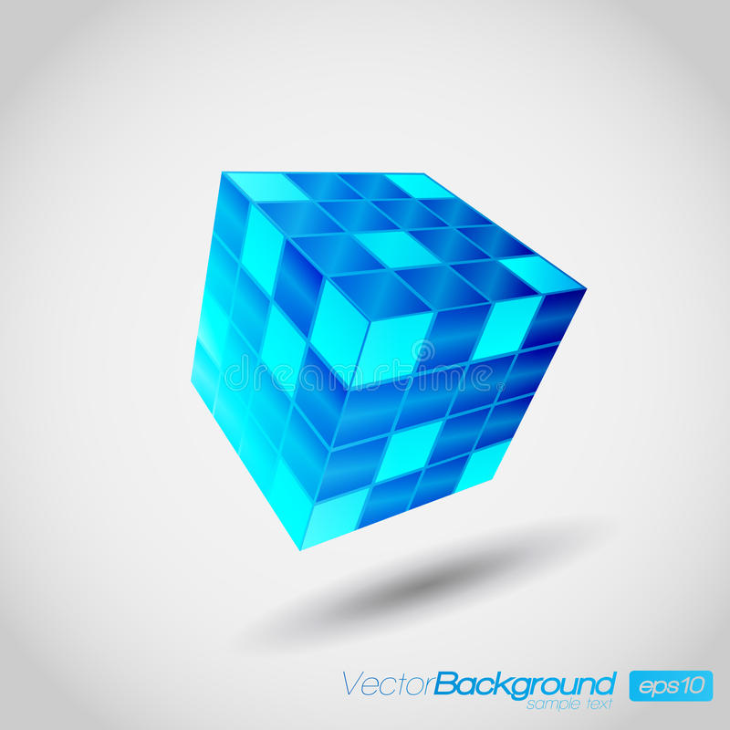 vecteur du cube 3D illustration stock