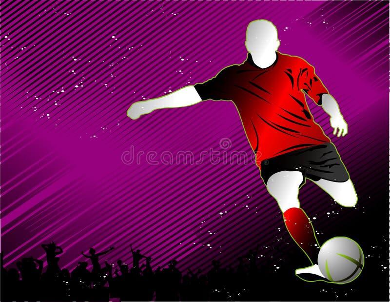 Vecteur du football illustration libre de droits