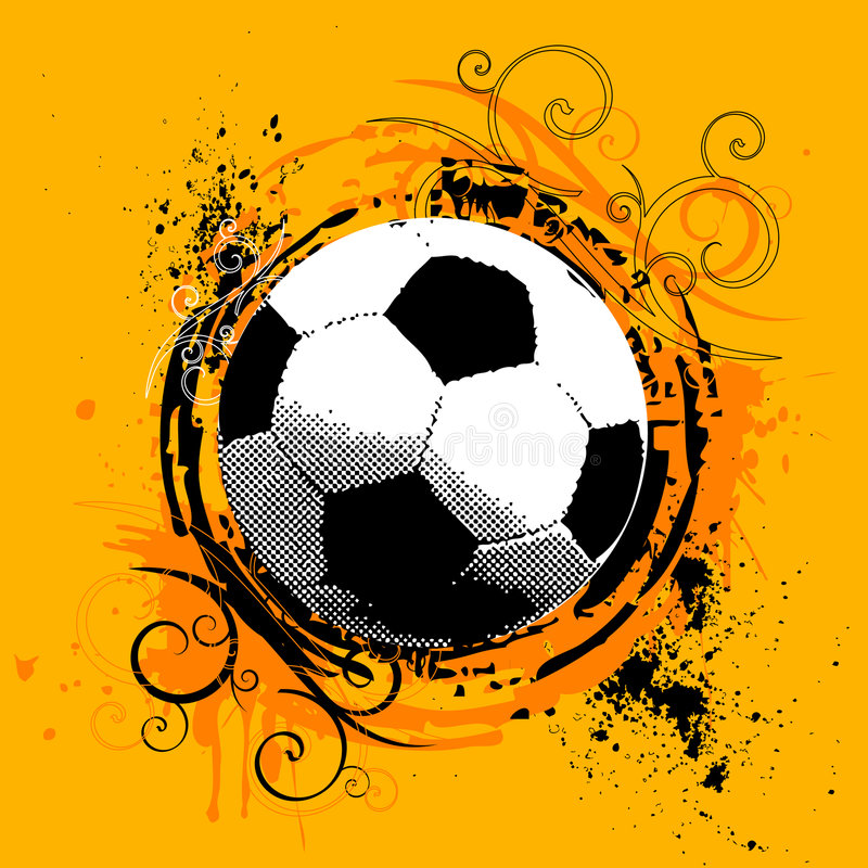 Vecteur du football illustration stock