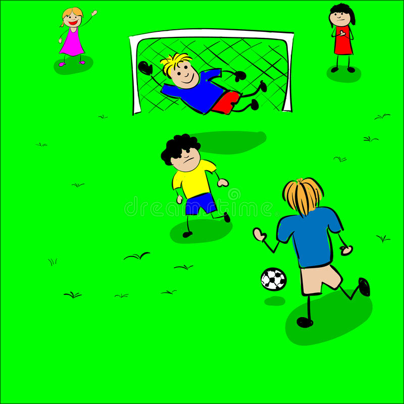 Vecteur du football de jeu d'enfants illustration de vecteur