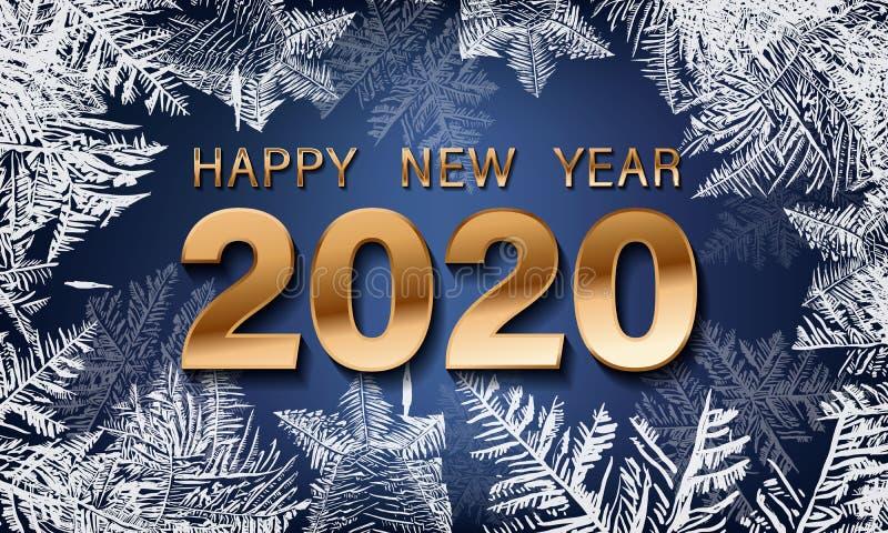 Vecteur 2020 en baisse de neige de No?l d'isolement sur le fond fonc? Effet transparent de d?coration de flocon de neige Mod?le d photo libre de droits