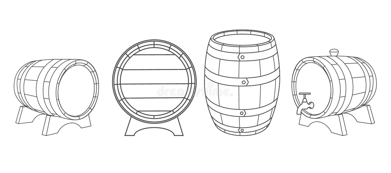 Vecteur en bois de barils illustration de vecteur